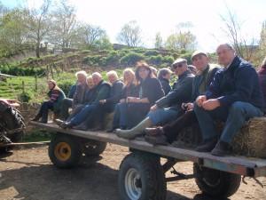 Trailer ride at Jonathan Crump's farm
