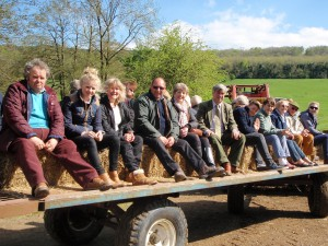 Members on an AGM trailer ride 2015