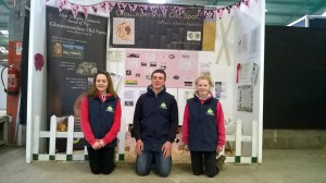 L-R Ella Kirtley, Oliver Lightfoot & Sarah Whitley winners for 2nd year running National Young Show Stars March 2016